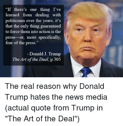 If There's One Thing I've Learned From Dealing With Politicians Over Delectable The Art Of The Deal Quotes