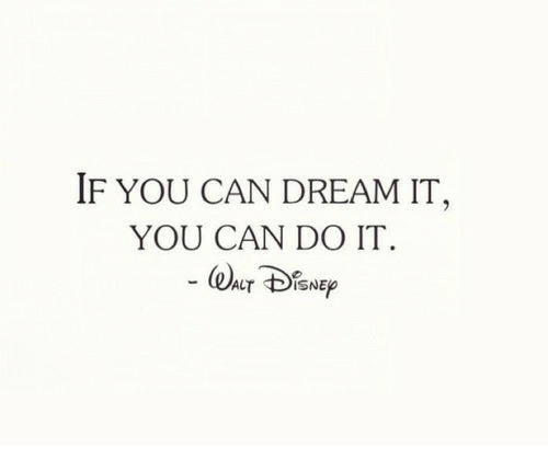 Dream It: IF YOU CAN DREAM IT,  YOU CAN DO IT.