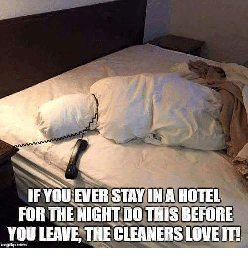 Love, Memes, and Hotel: IF YOU EVER  STAY IN A HOTEL  FOR THE NIGHT DO THISBEFORE  YOU LEAVE, THE CLEANERS LOVE IT!