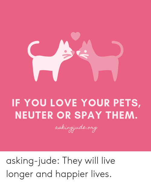 neuter: IF YOU LOVE YOUR PETS,  NEUTER OR SPAY THEM  aakin asking-jude:  They will live longer and happier lives.