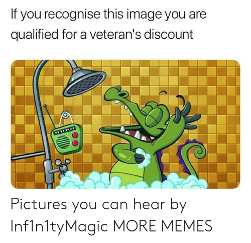 Dank, Memes, and Target: If you recognise this image you are  qualified for a veteran's discount  www Pictures you can hear by Inf1n1tyMagic MORE MEMES
