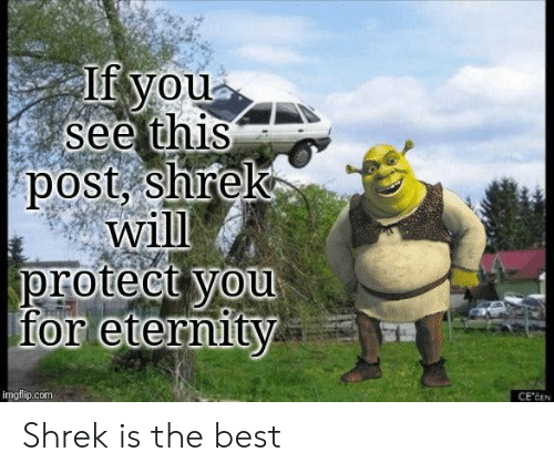 Protect You: If you  see this  post, shrek  will  protect you  for eternity  imgflip.com  CE'CEN Shrek is the best