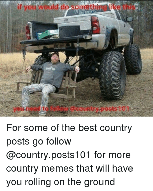 Country Memes: if you would do Nomet For some of the best country posts go follow @country.posts101 for more country memes that will have you rolling on the ground