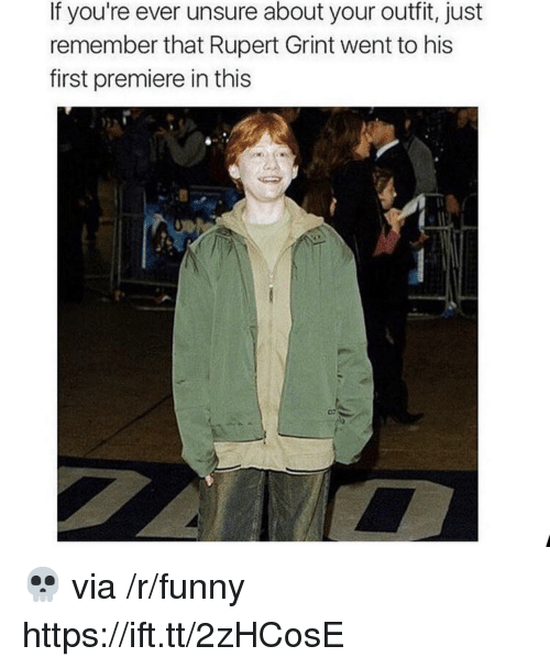 rupert: If you're ever unsure about your outfit, just  remember that Rupert Grint went to his  first premiere in this 💀 via /r/funny https://ift.tt/2zHCosE