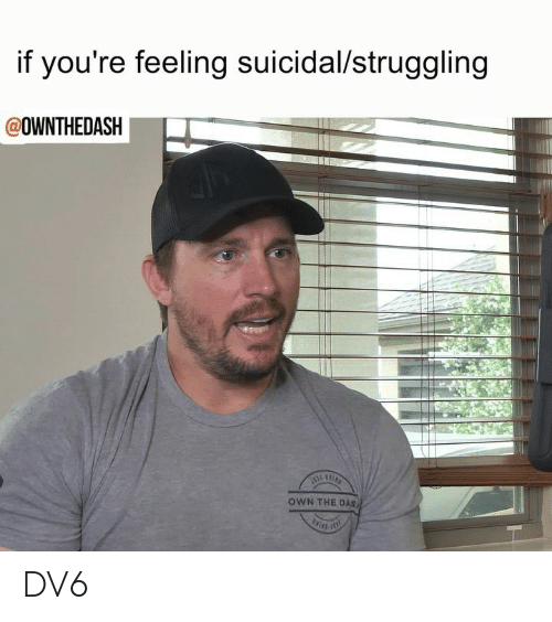 Memes, 🤖, and Own: if you're feeling suicidal/struggling  @OWNTHEDASH  OWN THE DAS DV6