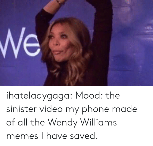 Sinister: ihateladygaga: Mood: the sinister video my phone made of all the Wendy Williams memes I have saved.