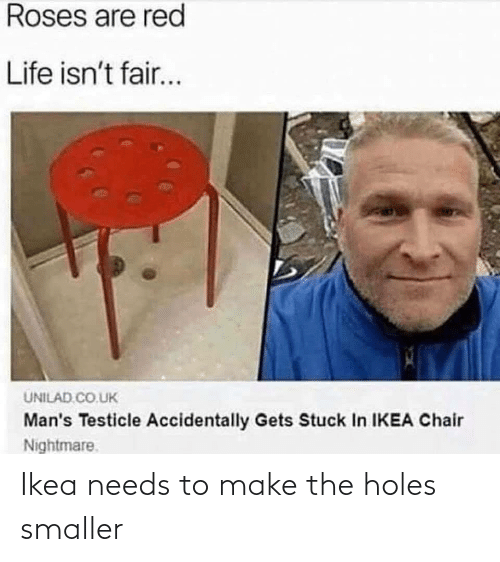 Smaller: Ikea needs to make the holes smaller