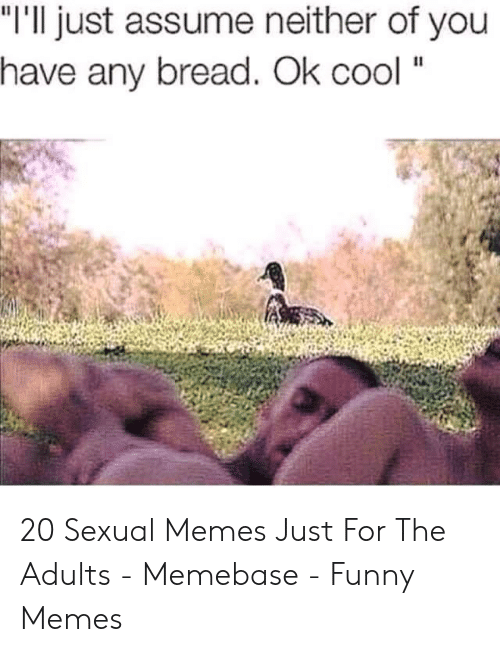 """I Need Sex Meme: """"I'll just assume neither of you  have any bread. Ok cool """" 20 Sexual Memes Just For The Adults - Memebase - Funny Memes"""