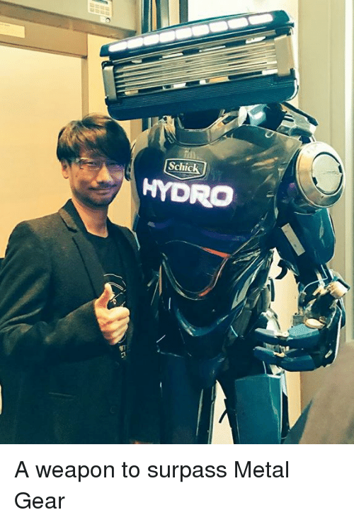 hydro: ILL  Schick  HYDRO A weapon to surpass Metal Gear