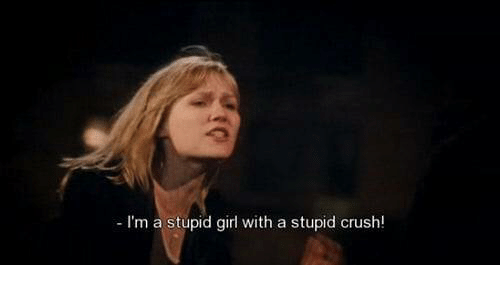 stupid girl: I'm a stupid girl with a stupid crush!