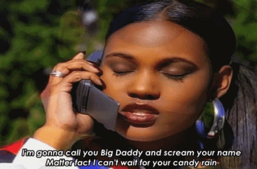 Raine: im gonna call you Big Daddy and scream your name  Matter fact I can't wait for your candy rain