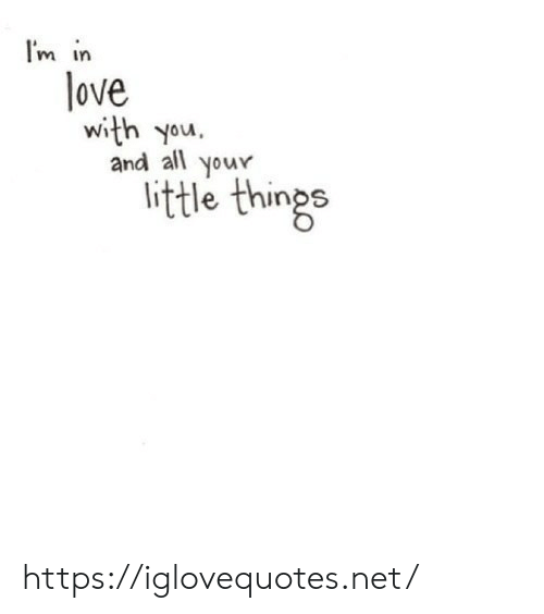 Your Little: I'm in  love  and all your  little things https://iglovequotes.net/