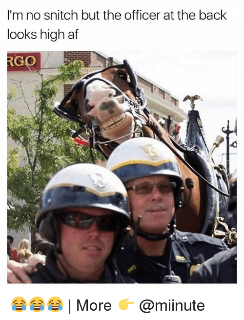 No Snitching: I'm no snitch but the officer at the back  looks high af  RC  GO 😂😂😂   More 👉 @miinute