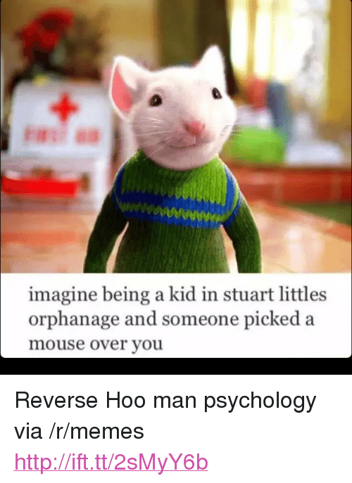 """Littles: imagine being a kid in stuart littles  orphanage and someone picked a  mouse over youu <p>Reverse Hoo man psychology via /r/memes <a href=""""http://ift.tt/2sMyY6b"""">http://ift.tt/2sMyY6b</a></p>"""