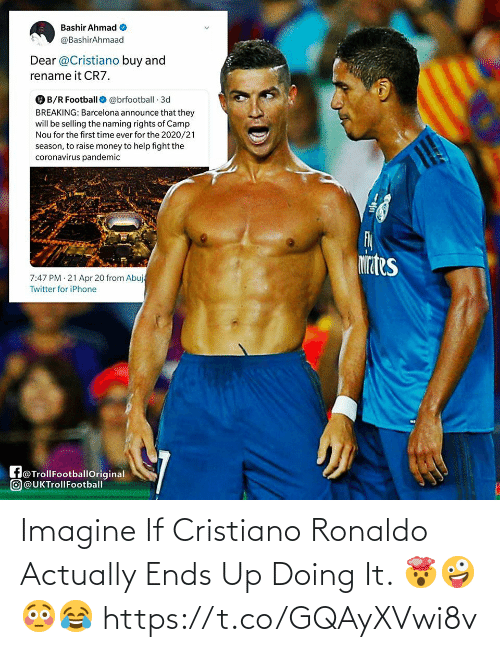 Doing It: Imagine If Cristiano Ronaldo Actually Ends Up Doing It. 🤯🤪😳😂 https://t.co/GQAyXVwi8v