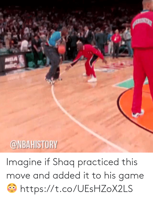 Shaq: Imagine if Shaq practiced this move and added it to his game 😳 https://t.co/UEsHZoX2LS