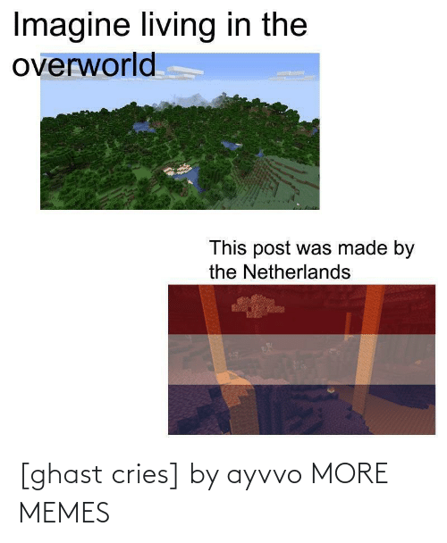 Living: Imagine living in the  overworld  This post was made by  the Netherlands [ghast cries] by ayvvo MORE MEMES