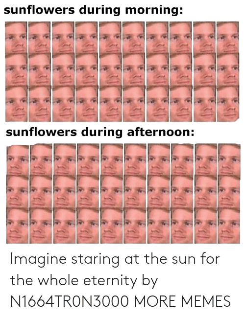 imagine: Imagine staring at the sun for the whole eternity by N1664TR0N3000 MORE MEMES