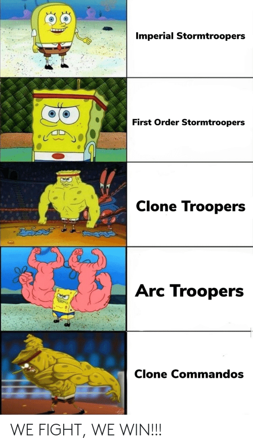 Fight, Arc, and First: Imperial Stormtroopers  First Order Stormtroopers  Clone Troopers  ఔవిదత్  Arc Troopers  Clone Commandos WE FIGHT, WE WIN!!!