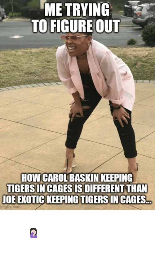 day: Important question of the day 🤦🏻‍♀️ #TigerKing #CaroleBaskin #JoeExotic