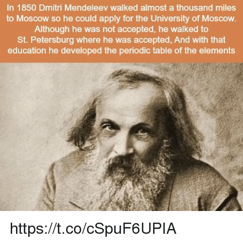 about mendeleev A man of many eccentricities, dmitri mendeleev and his contributions to the periodic table are so significant that they have been compared to.
