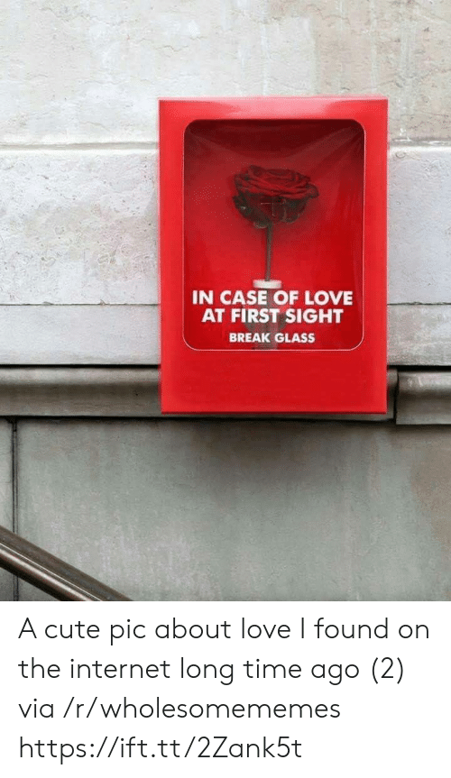 Long Time Ago: IN CASE OF LOVE  AT FIRST SIGHT  BREAK GLASS A cute pic about love I found on the internet long time ago (2) via /r/wholesomememes https://ift.tt/2Zank5t