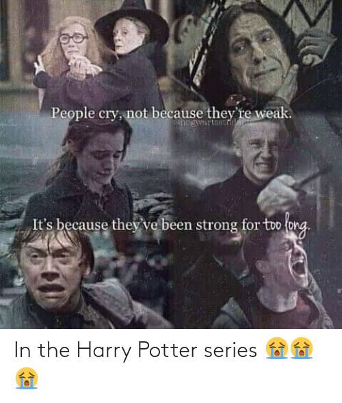 Harry Potter: In the Harry Potter series 😭😭😭