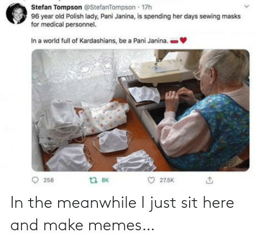 Sit: In the meanwhile I just sit here and make memes…