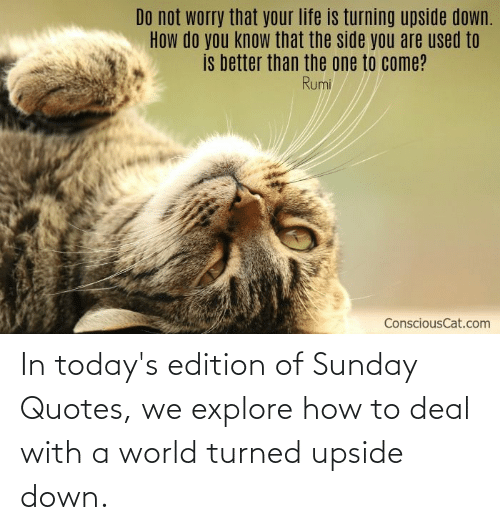 explore: In today's edition of Sunday Quotes, we explore how to deal with a world turned upside down.