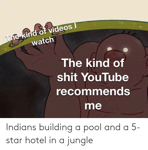 Hotel: Indians building a pool and a 5-star hotel in a jungle