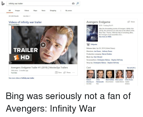 Infinity War Trailer All Images Videos Maps NewsShoppingMy