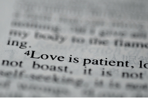 boast: ing  4Love is patient, lo  not boast. it is not