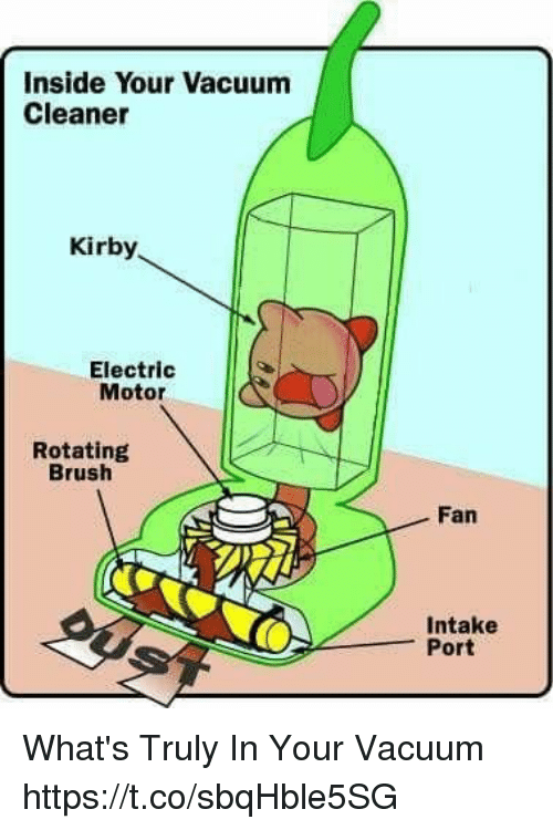 Motorable: Inside Your Vacuum  Cleaner  Kirby  Electric  Motor  Rotating  Brush  Fan  Intake  Port What's Truly In Your Vacuum https://t.co/sbqHble5SG