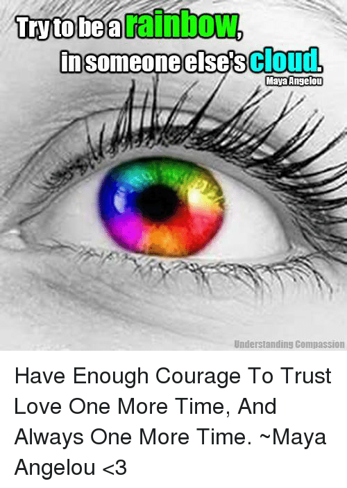 Insomeoneelsescloud Understandins Compassion Have Enough Courage To