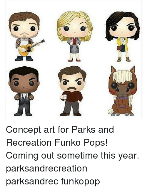 park and recreation: int  arTilli  し『 Concept art for Parks and Recreation Funko Pops! Coming out sometime this year. parksandrecreation parksandrec funkopop