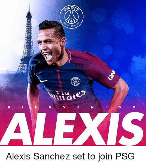 Inting: INT GE  ALEXIS Alexis Sanchez set to join PSG