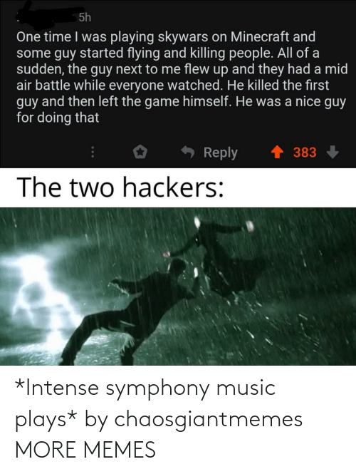 Plays: *Intense symphony music plays* by chaosgiantmemes MORE MEMES