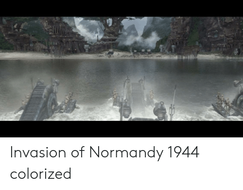 normandy: Invasion of Normandy 1944 colorized