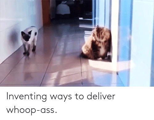 Ways: Inventing ways to deliver whoop-ass.