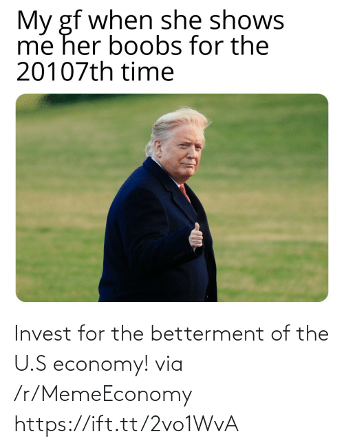 S: Invest for the betterment of the U.S economy! via /r/MemeEconomy https://ift.tt/2vo1WvA