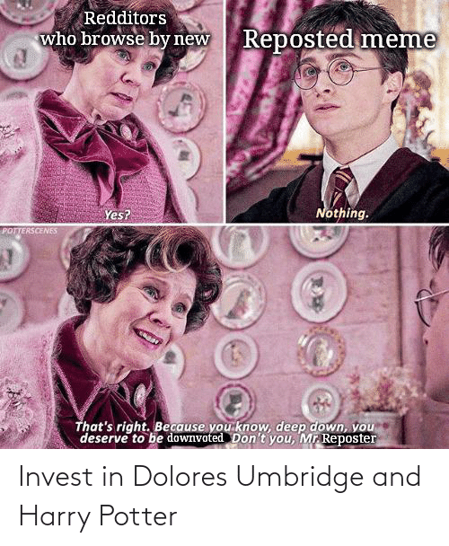 Harry Potter: Invest in Dolores Umbridge and Harry Potter