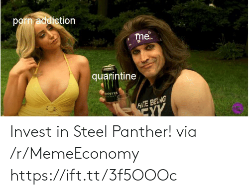panther: Invest in Steel Panther! via /r/MemeEconomy https://ift.tt/3f5OOOc