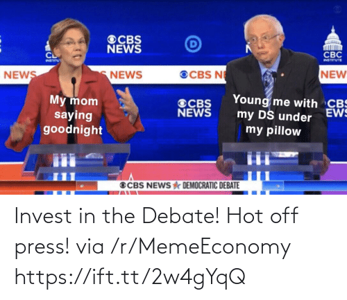 Ift Tt: Invest in the Debate! Hot off press! via /r/MemeEconomy https://ift.tt/2w4gYqQ