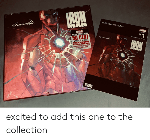 50 Cent, Iron Man, and Covers: Invincible Iron Man  MAN  MARVEL  ARIANT EDITION  MARVEL  HIP-HOP VARIANT COVERS  #1  BENDIS. MARQUEZ, PONSOR  50 CENT  GET RICH OR DIE TRYIN  TRANSLUCENT  RED-COLORED LPS  MAN  EXCLUSIVE MARVEL COMIC  02018 MARVEL B0028230-01  IRON MAN VARIANT LENTICULAR ART  MITED  SERIES excited to add this one to the collection