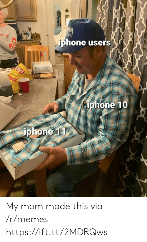 beast: iphone users  BEAST  Lay's  Classic  LY SIZE  iphone 10  iphone 11  BEA My mom made this via /r/memes https://ift.tt/2MDRQws