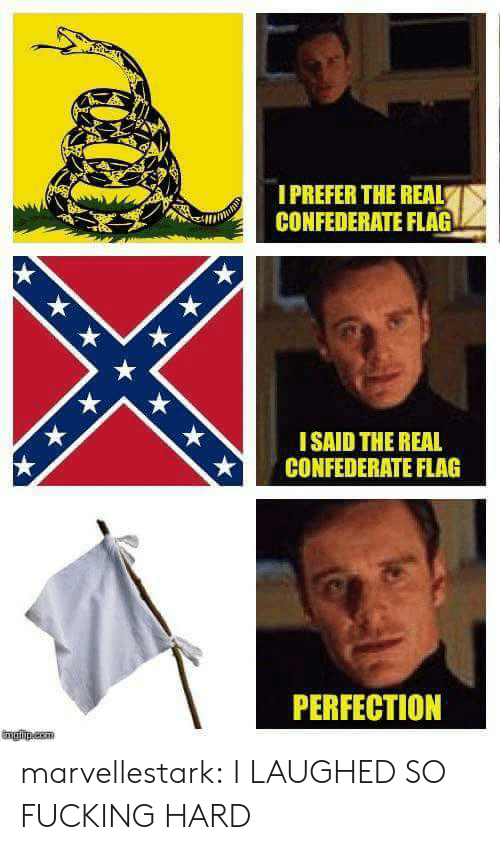 Confederate Flag, Fucking, and Tumblr: IPREFER THE REAL  CONFEDERATE FLAG  ISAID THE REAL  CONFEDERATE FLAG  PERFECTION marvellestark: I LAUGHED SO FUCKING HARD