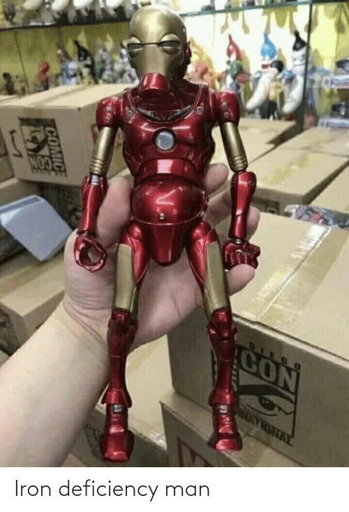 iron: Iron deficiency man