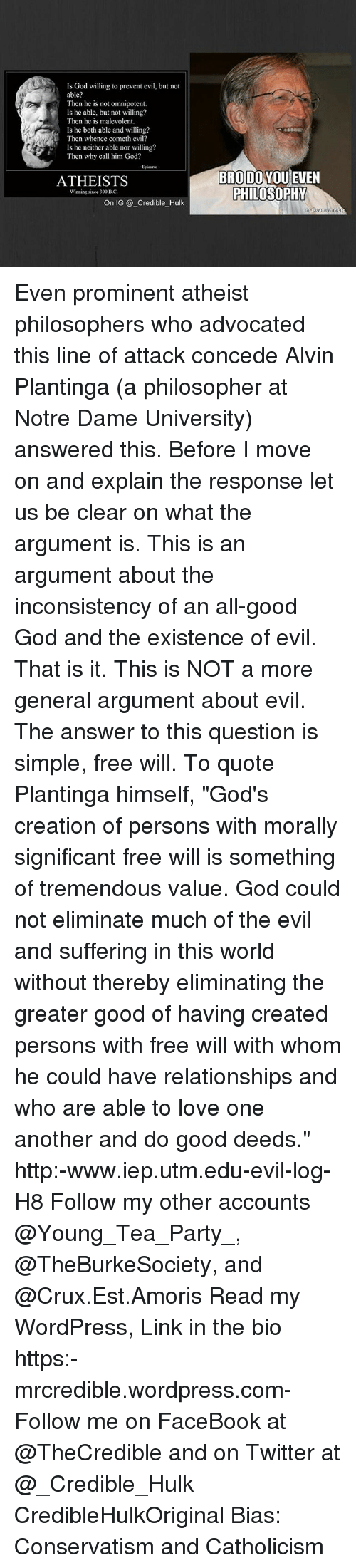 an argument on the source of evil and suffering in the world