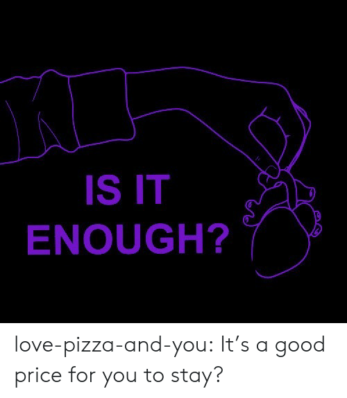 price: IS IT  ENOUGH? love-pizza-and-you:  It's a good price for you to stay?