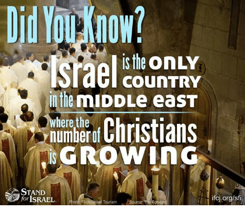 Memes, Israel, and The Middle: is the onLY  COUNTRY  in the mIDDLe eaST  here the  numberof  GROWiNG  STAND  for ISRAEL  ifcj.org/sf  Flickrnsrael Tourism Source The F